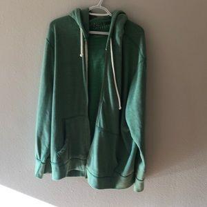 AEO hooded zip up sweatshirt